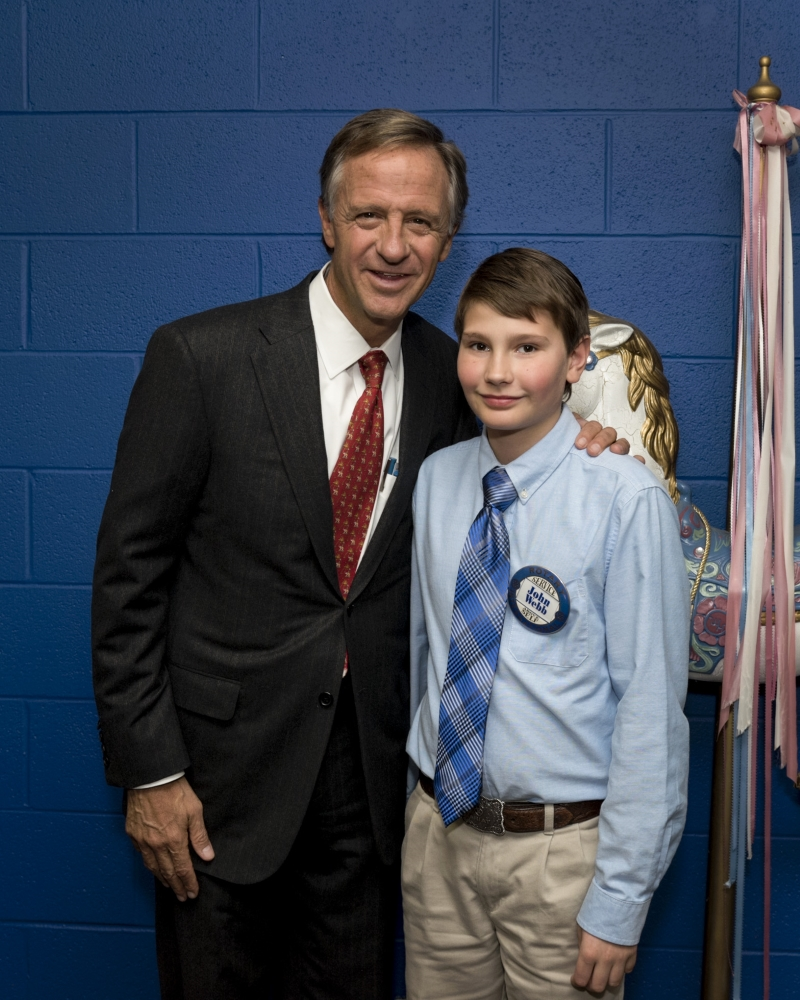 Governor Haslam and Hnorary Rotarian John Webb