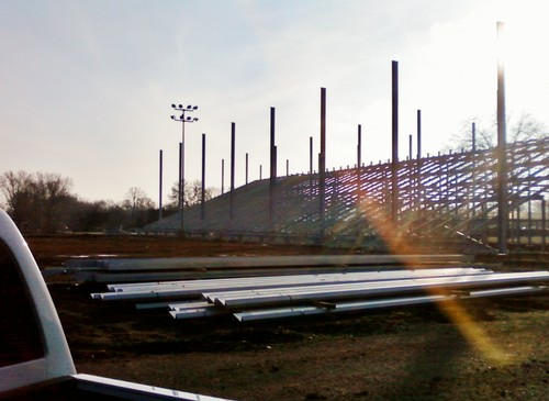 Grandstand erection