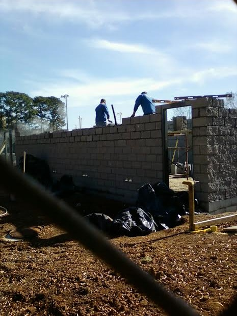 Walls going up.